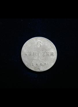 Austrija, SIDABRINIAI 6 kreiceriai, 1849m - A