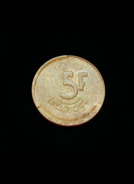 Belgija (Belgique), 5 frankai, 1993m