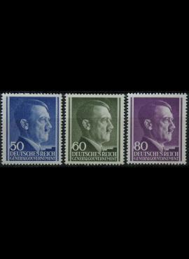 Vokietijos Reichas, Lenkijos okupacija, pilna serija, MiNr 110-112 MLH*