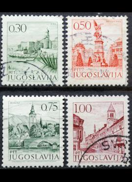 Jugoslavija ScNr 1066A, 1069, 1072, 1073A Used(O)