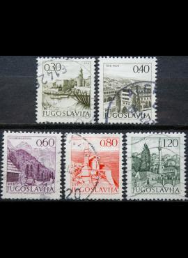 Jugoslavija ScNr 1066, 1068, 1071, 1073, 1073B Used(O)