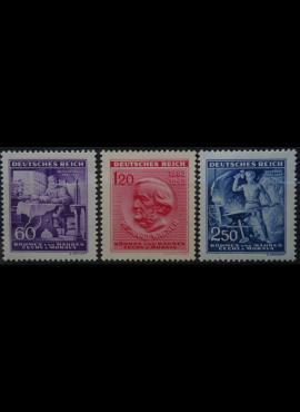 Vokietijos Reichas, Čekijos okupacija, pilna serija, MiNr 128-130 MLH*