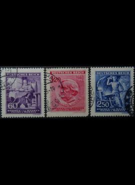 Vokietijos Reichas, Čekijos okupacija, pilna serija, MiNr 128-130 Used(O)