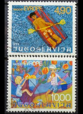 Jugoslavija, pilna serija ScNr 1343-1344 Used(O)