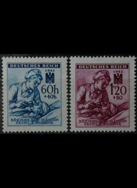 Vokietijos Reichas, Čekijos okupacija, pilna serija, MiNr 111-112 MNH**