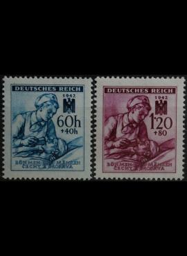 Vokietijos Reichas, Čekijos okupacija, pilna serija, MiNr 111-112 MH*