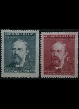 Vokietijos Reichas, Čekijos okupacija, pilna serija, MiNr 138-139 MH*