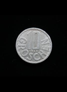 Austrija, 10 grošenų, 1969m