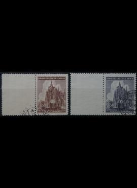 Vokietijos Reichas, Čekijos okupacija, pilna serija, MiNr 140-141 Used(O)