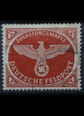 Vokietijos Reichas, oro paštas, MiNr 2 A Used(O)