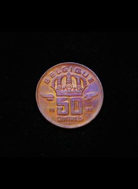 Belgija (Belgique), 50 santimų, 1998m