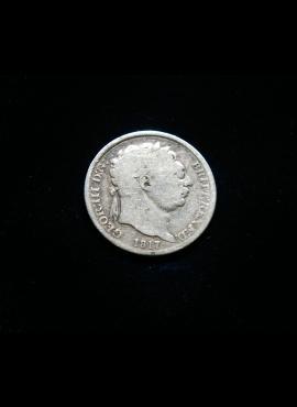 Jungtinė Karalystė, SIDABRINIAI 6 pensai 1817m E