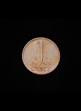 Nyderlandai, 1 centas 1963m