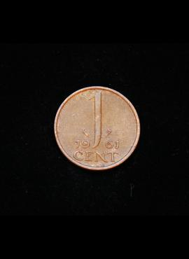 Nyderlandai, 1 centas 1961m