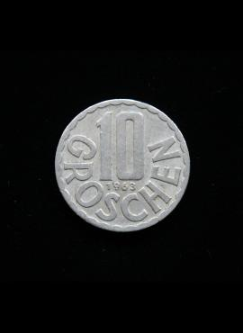 Austrija, 10 grošenų, 1963m