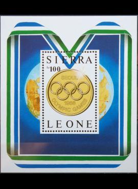 Siera Leonė, blokas MiNr 1001 MNH** V