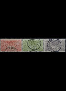 Nyderlandai, pilna 1906m serija ScNr B1-B3 Used(O)