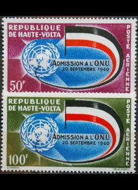 Burkina Fasas, pilna serija MiNr 112-113 MNH** V