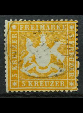 Senoji Vokietija, Viurtembergas, 1860m, MiNr 17x Used(O)