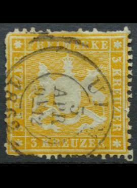 Senoji Vokietija, Viurtembergas, 1861-1962m, MiNr 17y Used(O)