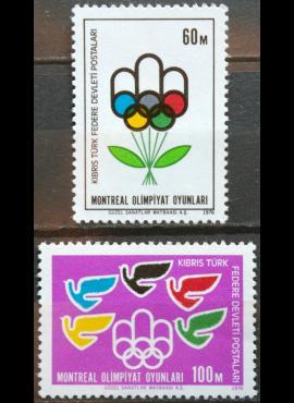 Turkijos Kipras, pilna serija MiNr 34-35 MNH** V