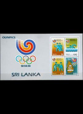 Šri Lanka, blokas MiNr 834-837 MNH** V