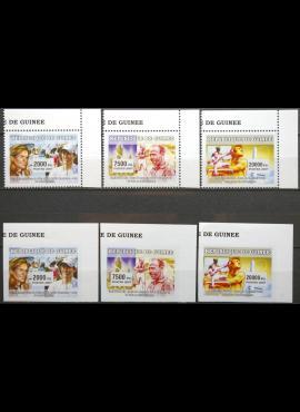 Gvinėja, pilna serija MiNr 4557-4559A ir B MNH** V