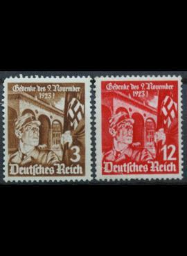 Vokietijos Reichas, pilna serija, MiNr 598-599 MH*