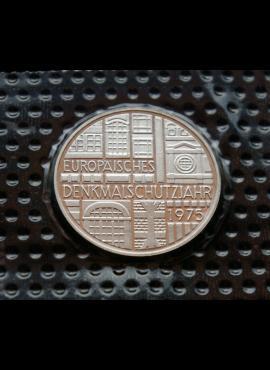 Vokietija, SIDABRINĖS 5 markės 1975m-F BU