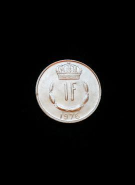 Liuksemburgas, 1 frankas 1976m