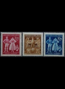 Vokietijos Reichas, Čekijos okupacija, pilna serija, MiNr 133-135 MNH**