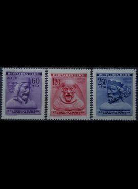 Vokietijos Reichas, Čekijos okupacija, pilna serija, MiNr 114-116 MNH**