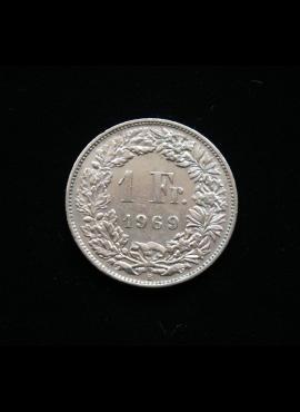 Šveicarija, 1 frankas 1969m