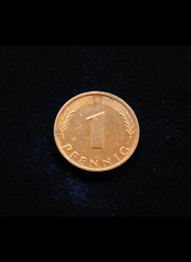 Vokietija, 1 pfenigas 1972m-G