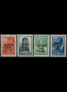 Vokietijos Reichas, Latvijos okupacija MiNr 1-2, 4-5 MNH**