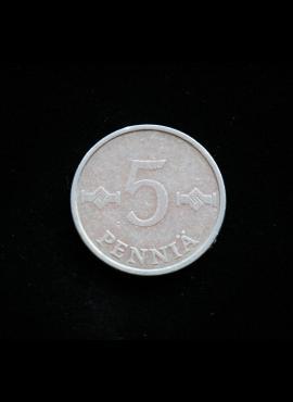 Suomija, 5 pensai 1979m