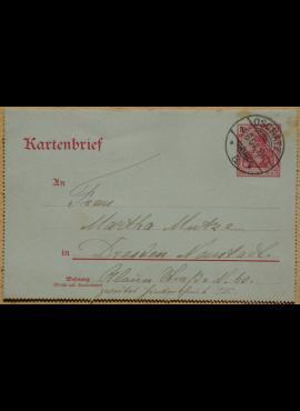 Vokietijos Reicho 1904m vokas/laiškas