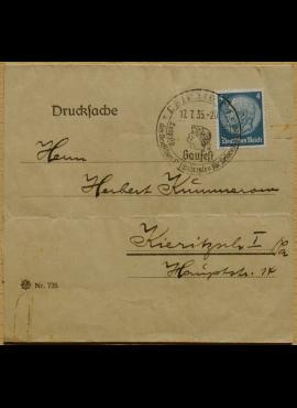 Vokietijos Reicho numeruotas vokas, su MiNr 514 pašto ženklu