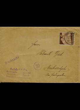 Vokietijos Reicho vokas, su MiNr 869 pašto ženklu
