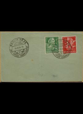 Vokietijos Reicho vokas, su MiNr 894-895 pašto ženklais