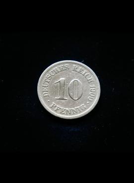 Vokietijos Imperija, 10 pfenigų 1900m-A E