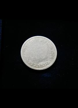 Vokietijos Imperija, 10 pfenigų 1876m-A E