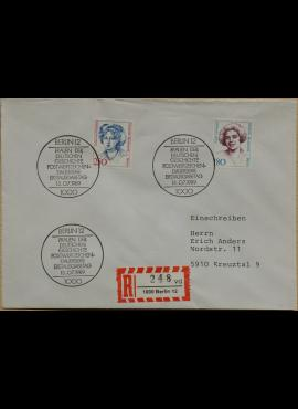 Vokietija, Vakarų Berlynas 1989m pirmos dieno vokas su MiNr 844-845