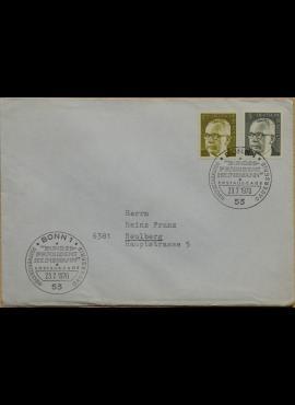 Vokietija, 1970m pirmos dienos vokas su MiNr 635, 645