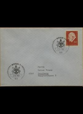 Vokietija, 1969m pirmos dienos vokas su MiNr 609