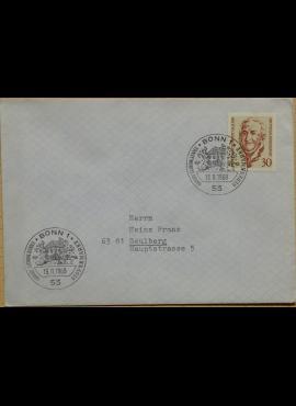 Vokietija, 1969m pirmos dienos vokas su MiNr 611