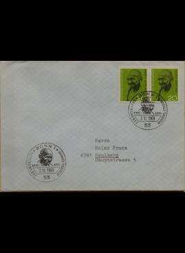 Vokietija, 1969m pirmos dienos vokas su MiNr 608