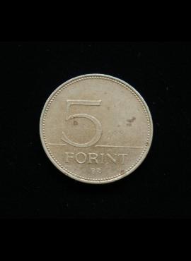 Vengrija, 5 forintai, 1999m