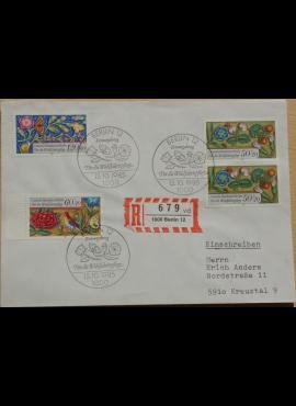 Vokietija, Vakarų Berlynas 1985m pirmos dienos vokas su MiNr 744-745, 747