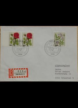 Vokietija, Vakarų Berlynas 1982m pirmos dienos vokas su MiNr 682-683